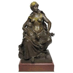 "A French 19th Century Bronze Sculpture Titled ""La Sécurité"" Eugène Delaplanche"