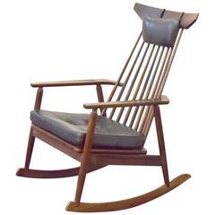 Danish Rosewood Rocking Chair