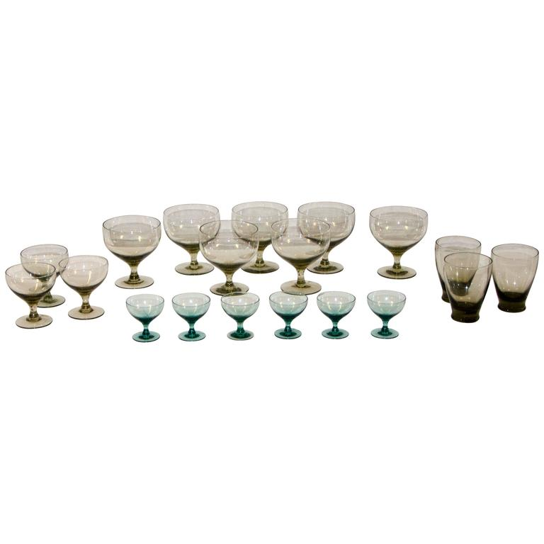 Collection of Morgantown American Modern Glassware by Russel Wright