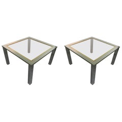 Pair of 1970 Side Tables Attributed to Romeo Rega