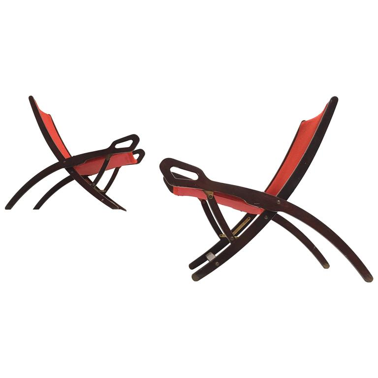 Gio Ponti ''Ninfea'' Chairs, 1958, Published with Certificate from Ponti Archive For Sale