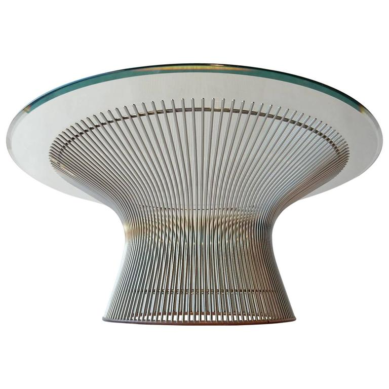 Warren Platner For Knoll Chrome Wire Coffee Table Mid