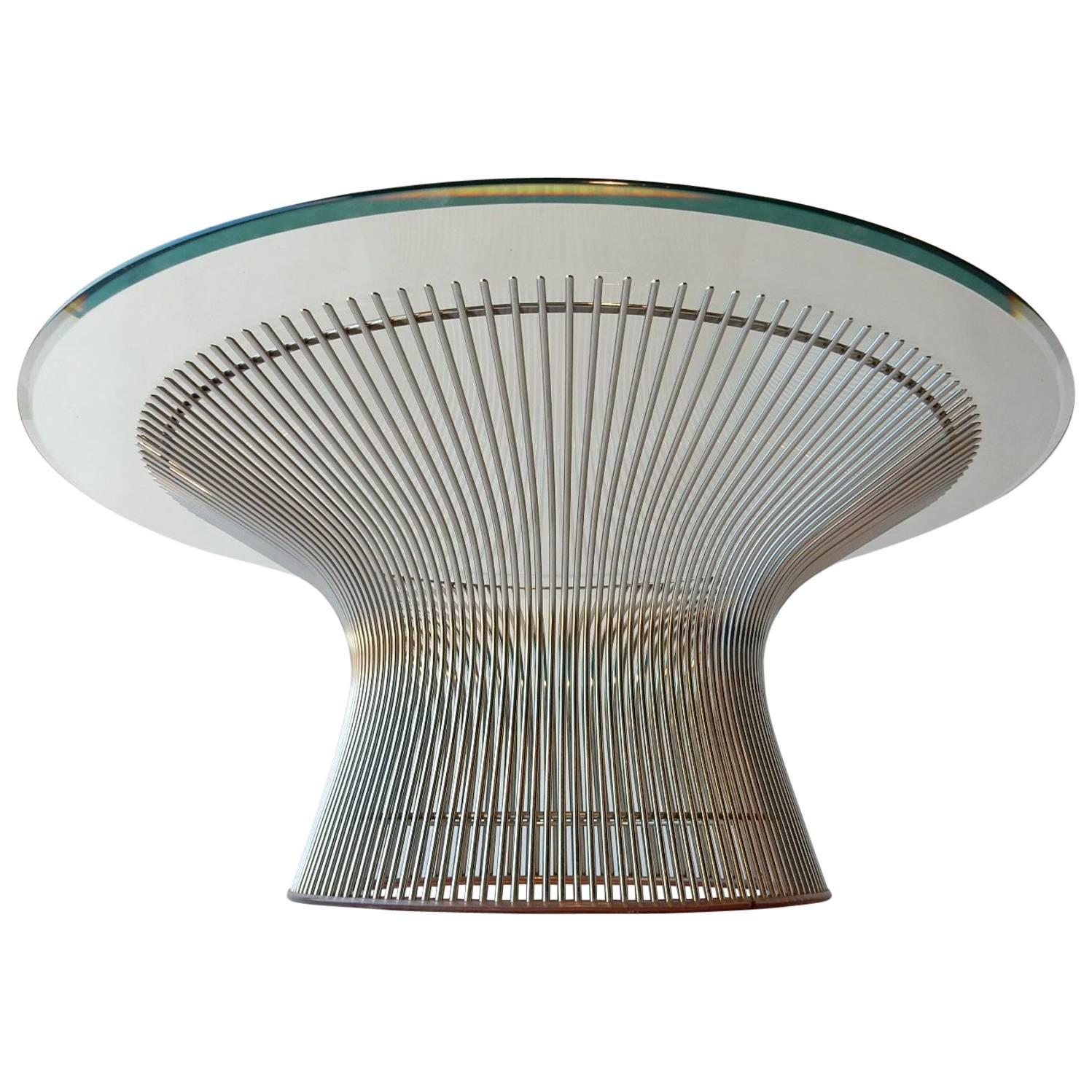 Warren Platner for Knoll Chrome Wire Coffee Table Mid Century