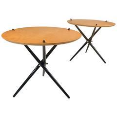 Knoll Tripod Tables 1948 black and wood