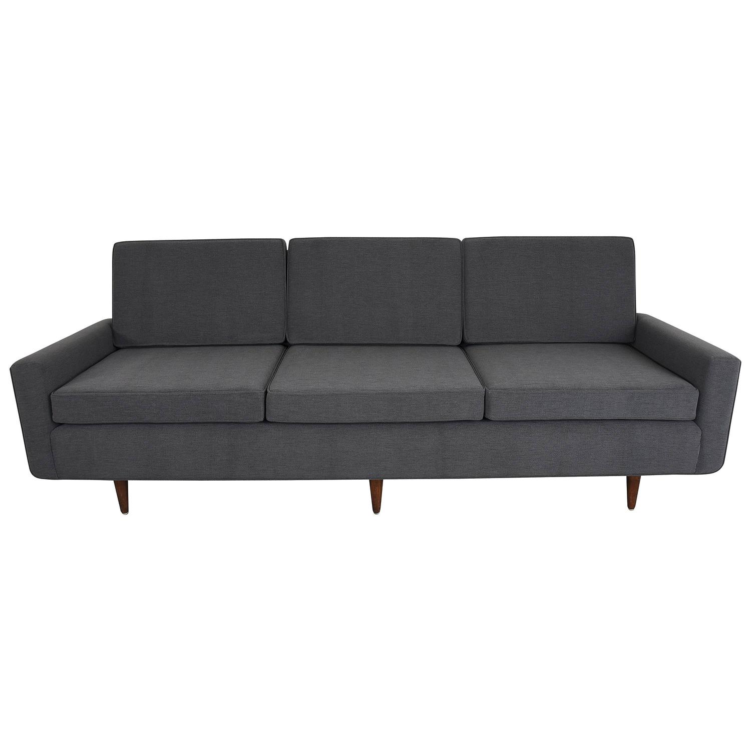 florence knoll sofa three seat sofa model 26 pair available for sale at 1stdibs. Black Bedroom Furniture Sets. Home Design Ideas