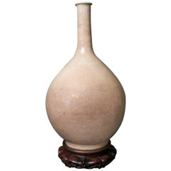 Crackle Glazed Porcelain Bottle Form Vase