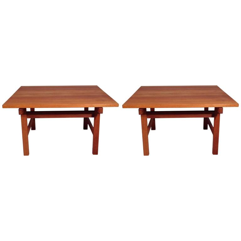 Hans Wegner Pair Of Scandinavian Coffee Table Edited By Andreas Tuck At 1stdibs