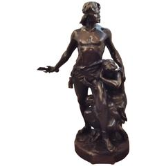 Large French Bronze by Emile Andre Boisseau Titled Defending The Homeland