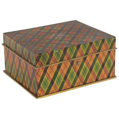 Tartan Plaid Box in Original Paint