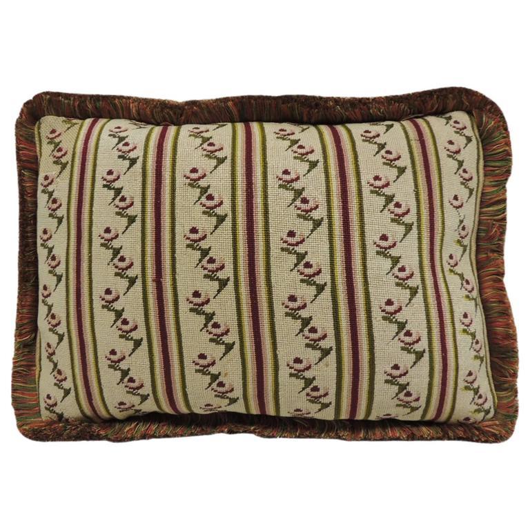 CLOSE OUT SALE: Antique Tapestry Petite Floral Decorative Pillow