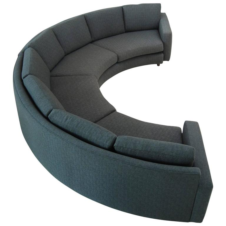 curved milo baughman sofa at 1stdibs