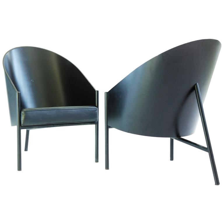 phillipe starck three leg lounge chairs for sale at 1stdibs. Black Bedroom Furniture Sets. Home Design Ideas