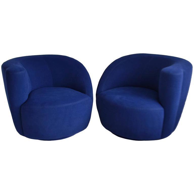 Pair Of Nautilus Lounge Chairs By Vladimir Kagan 1