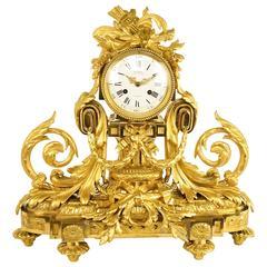 Large Louis XVI Style Ormolu Mantel Clock by J.F. Deniere (1774-1866)