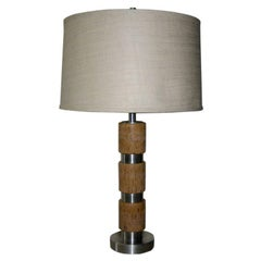 Russell Wright Cork and Aluminum Table Lamp