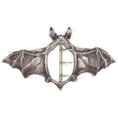 Silver Art Nouveau Buckle in the Form of a Bat by Ferdinand Erhart, 1908