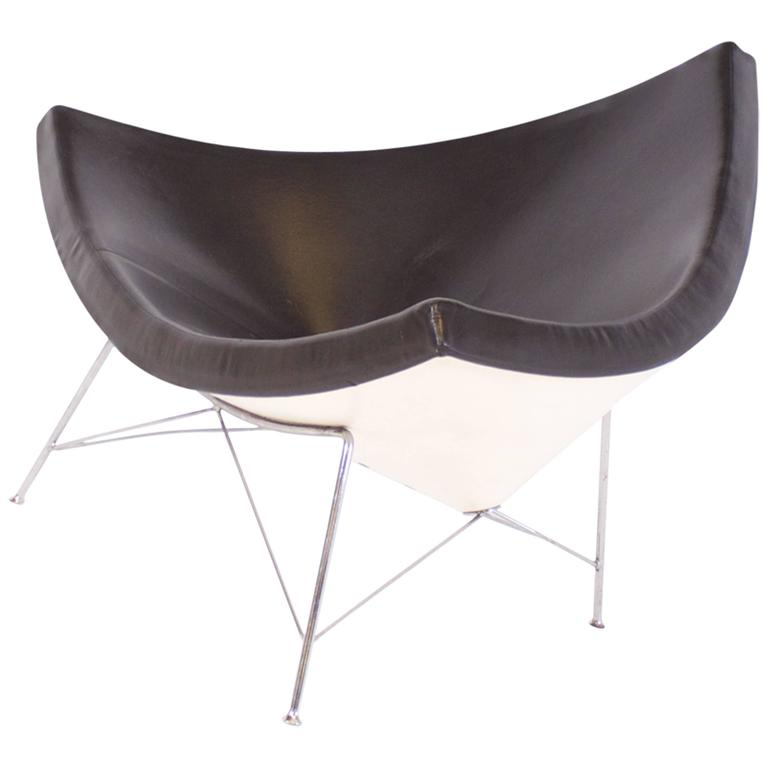 Vitra Coconut Chair By George Nelson In Brown Leather For