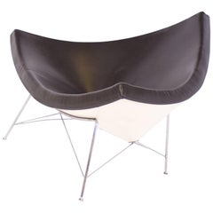 Vitra Coconut Chair by George Nelson in Brown Leather