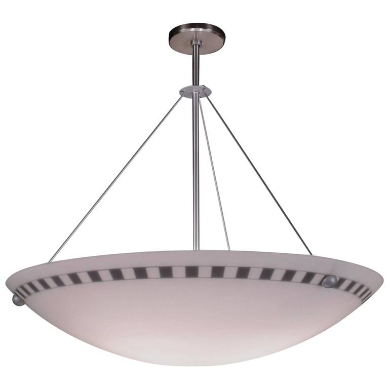 Arts And Crafts Style Checkerboard Gl Bowl Pendant Light For