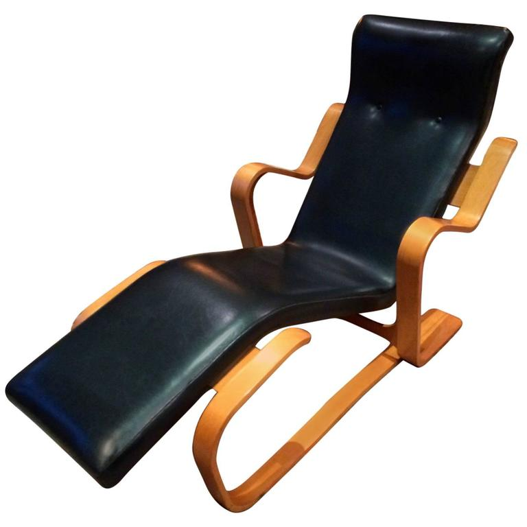 armchair marcel breuer long chair vintage rare modernist chaise circa 1964 at 1stdibs. Black Bedroom Furniture Sets. Home Design Ideas
