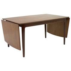 Danish Teak Wood Drop Leaf Table, 1960s