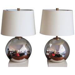 Pair of Elegant Mercury Lamp Ball Lamps
