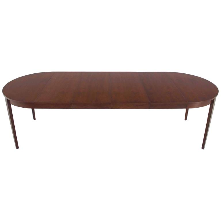 Round Dunbar Dining Conference Table  Four Extension Leaves