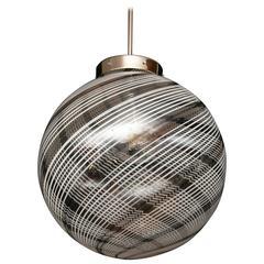 Murano Blown Swirl Globe Ceiling Fixture