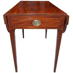 Charleston Mahogany Inlaid One-Drawer Pembroke, Charleston, SC, Circa 1810