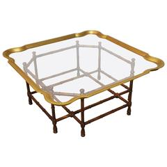 Baker Bamboo and Brass Tray Top Coffee Table