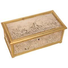 European Silver and Bronze Dore Decorative Box