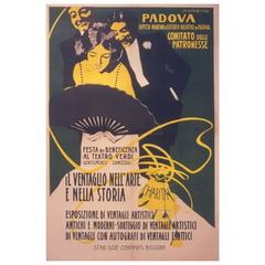 "Italian ""Stile Liberty"" Opera Benefit Poster by Marcello Dudovich, circa 1900"
