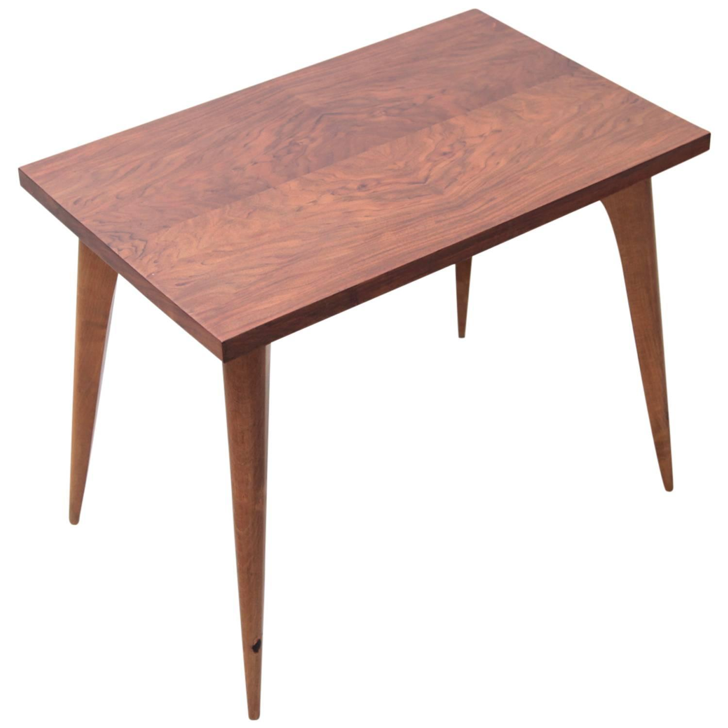 1930s Art Deco Side Table in Walnut Made in France For Sale at 1stdibs
