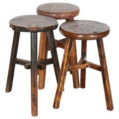 Antique Chinese Round Stools