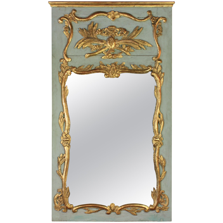 French Louis XV Period Trumeau Mirror