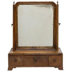 19th Century Gentleman's Dressing Mirror with Three Drawers