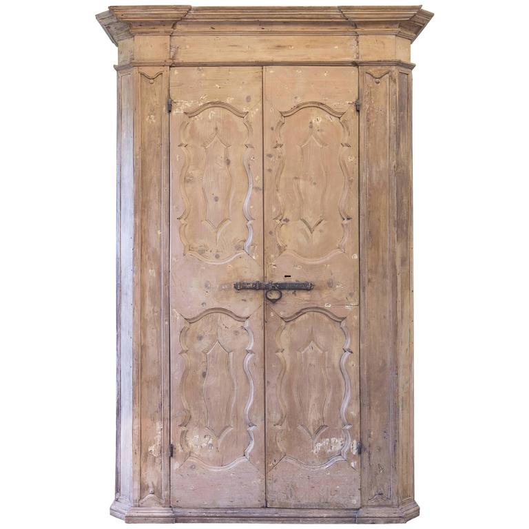 Painted Pine Kitchen Cabinets: 18th Century Italian Painted Pine Cabinet Or Cupboard For