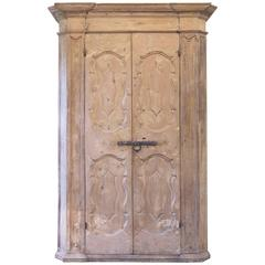18th Century Italian Painted Pine Cabinet or Cupboard