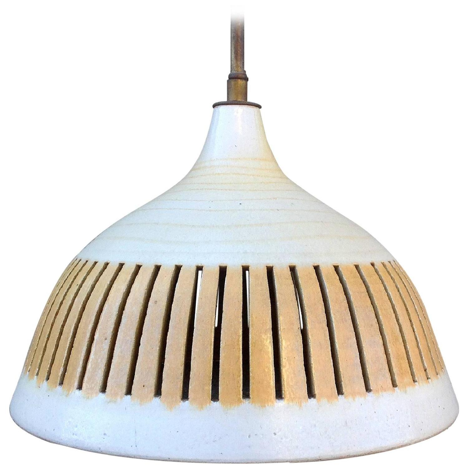 ceramic pendant light by design technics at 1stdibs