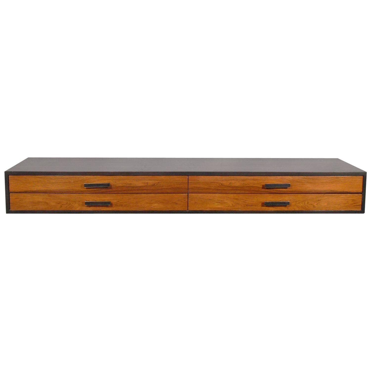 Harvey Probber Wall-Mounted Console Table or Desk at 1stdibs