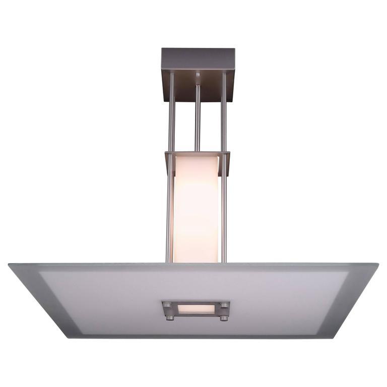 Vintage Glass Pendant 28 Square Light For Sale At 1stdibs