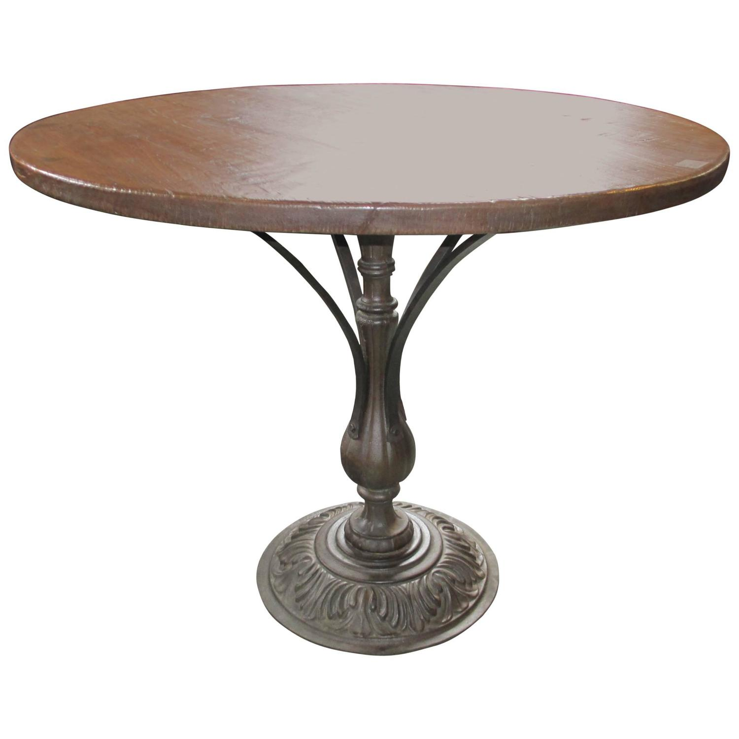 Metal Base Caf 233 Table Bistro Table At 1stdibs