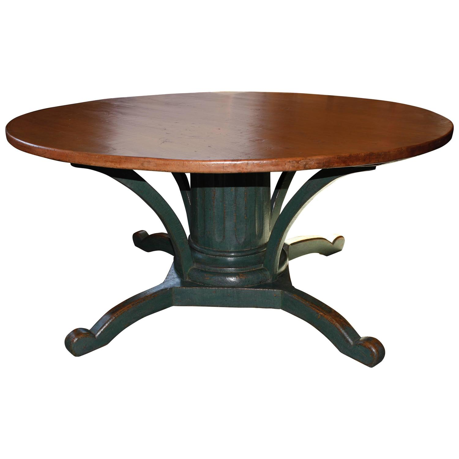 Round Dining Table Pedestal Base from Quebec at 1stdibs : 4119153z from www.1stdibs.com size 1500 x 1500 jpeg 78kB