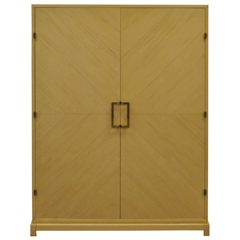 Tommi Parzinger for Parzinger Originals Bleached Elm Armoire or Wardrobe Cabinet