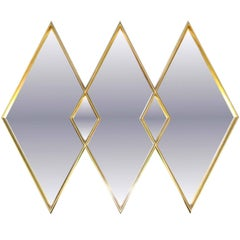 LaBarge Gilded Diamond Trio Wall Mirror