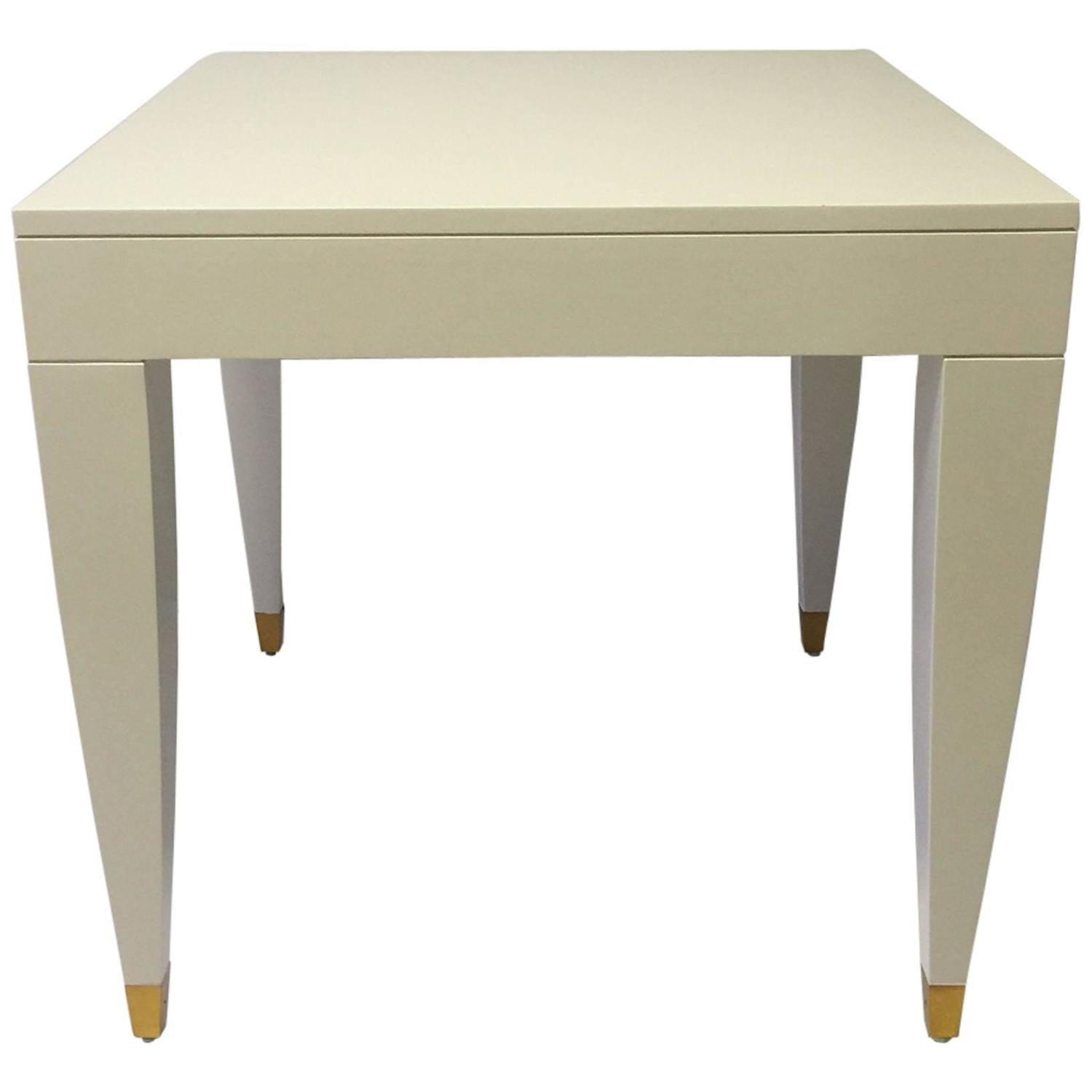 Mid-Century Modern White Lacquered Side Table at 1stdibs