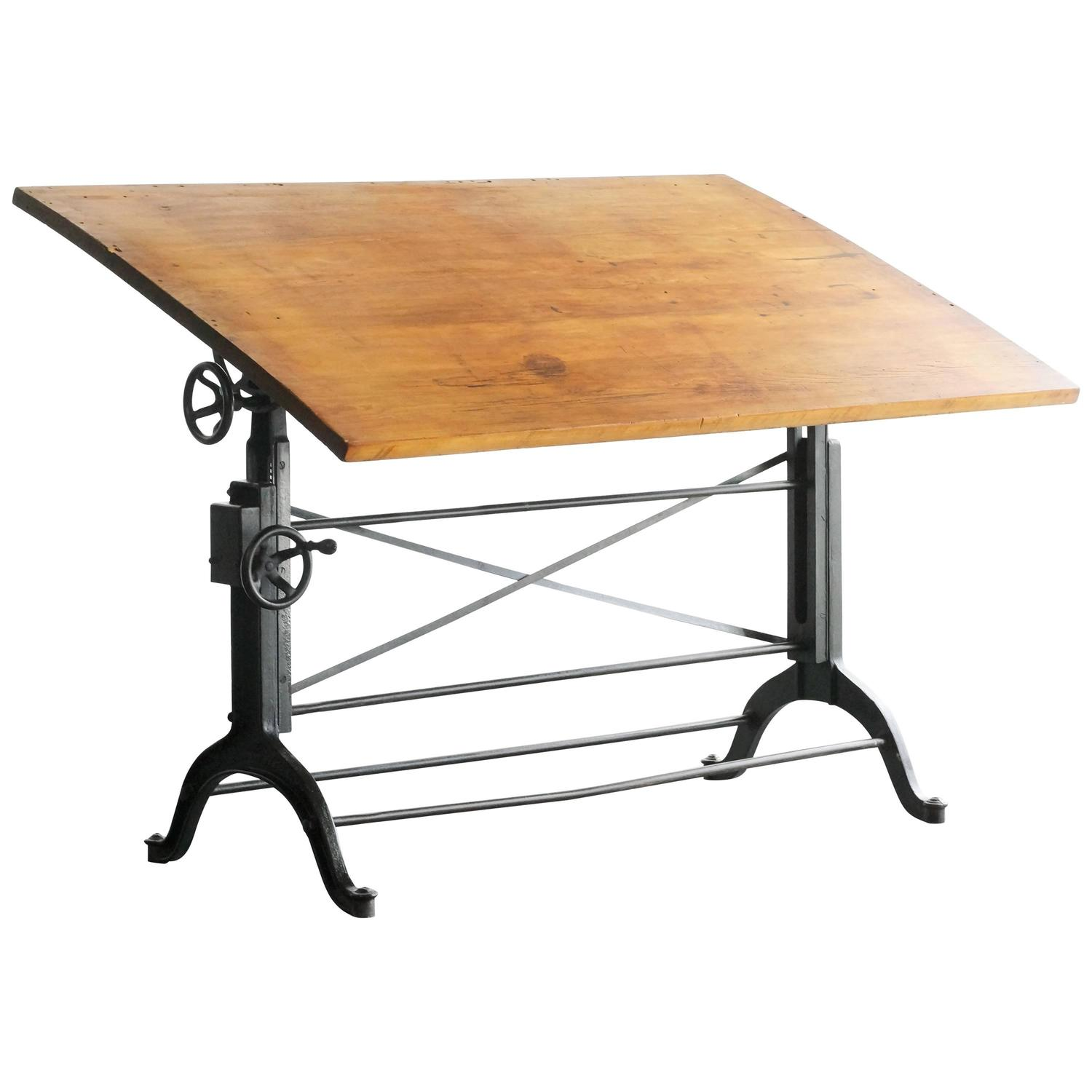 Drafting Table With Parallel BarCompose