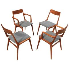 Danish Modern Teak Dining Chairs By Erik Christiansen For Slagelse