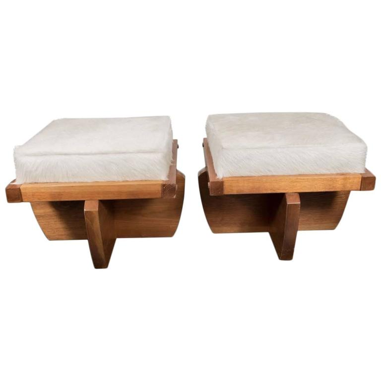 Pair of Benches in the Style of Nakashima For Sale