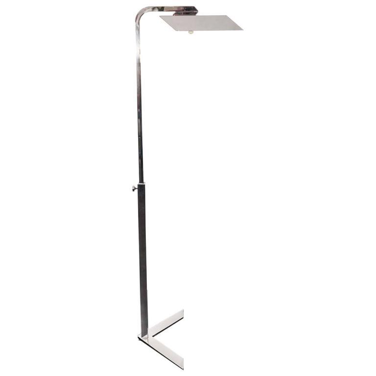 Italian Chrome Reading Lamp For Sale